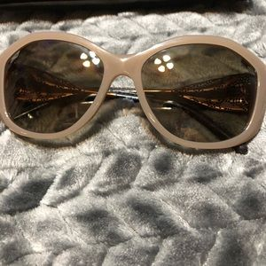 Tan Burberry sunglasses